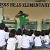 Book Mobile goes to Soldiers' Hills and Lakeview Elementary Schools