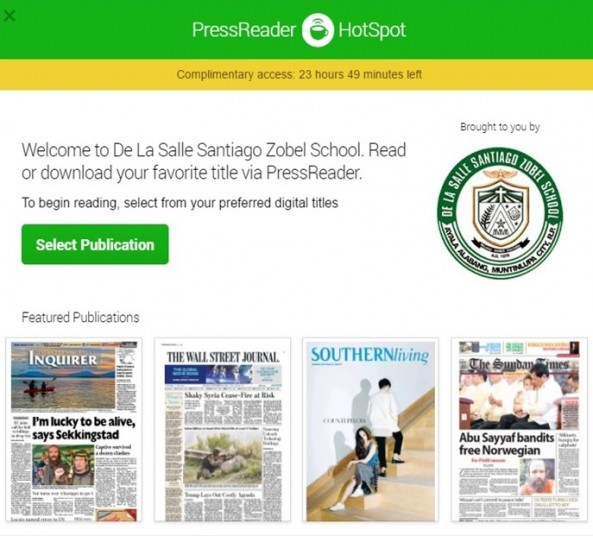 The Learning Resource Center subscribes to Press Reader a digital publication of magazines and newspapers (local&foreign).More than 5,000 titles of magazines and newspapers by Country,Language or Category.