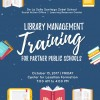 The Learning Resource Center and Social Action Office will conduct Library Management Training to Partners Public School Teachers  on October 13, 2017