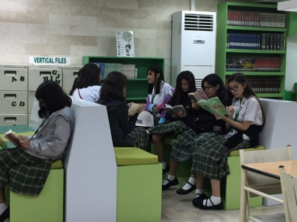 Grade- 8 Students Drop Everything and Read (DEAR) Session at the Library ,September 16, 2019