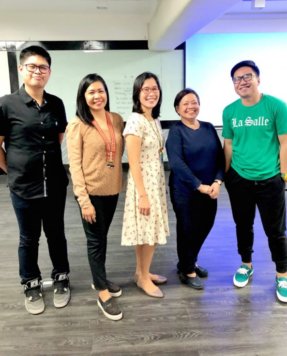 "DLSP Library Commission Seminar  Workshop with the Theme"" Upskilling Librarians Research Competency for the Fourth Industrial Revolution"" held last October 16 & 17, 2019 at De La Salle College of Saint Benilde, Taft Avenue, Manila , Four Librarians attended the seminar namely: Mrs. Caparas,Mr. Afurong,Mr. Ravalo and Ms. Valdez"