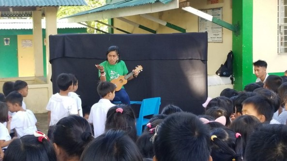 Bookmobile Library was conducted by Mr. Diola,Mr. Afurong, Mr. Diño  and Ms. Rizza Piccio last December 9, 2019 at  Hukay Elementary School, Calatagan,Batangas