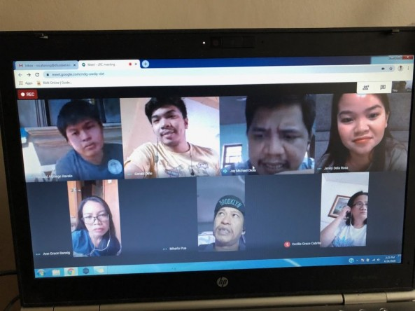 DLSZ Librarians held their first meeting for A.Y. 2020-2021 via video conference last April 24 due to COVID-19.