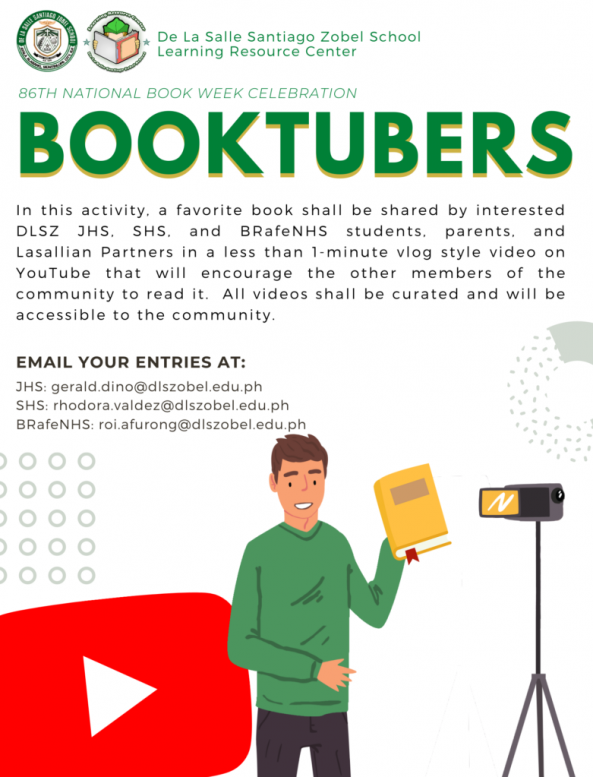 Spread your heart out for reading through vlogging and poster making!