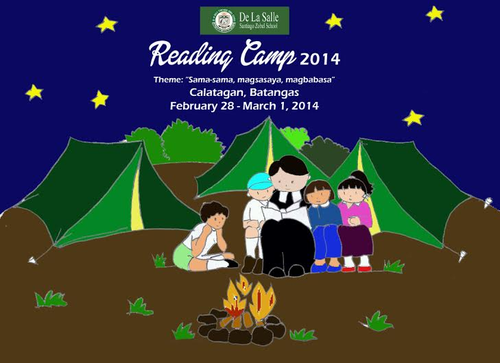 colored tarp-reading camp